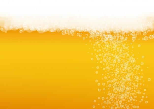 Spruzzata di birra sullo sfondo