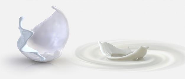 Spruzzata di latte latticini naturali onda di latte splash senza soluzione di continuità