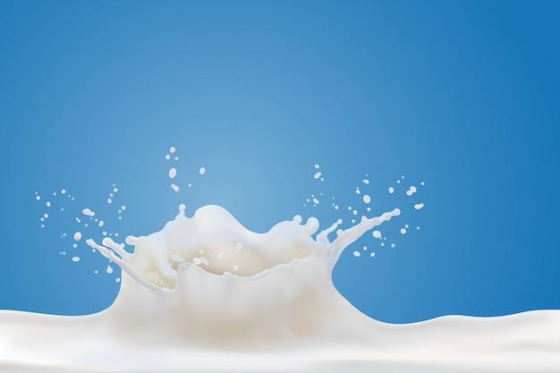 Spruzzata di latte realistico isolato