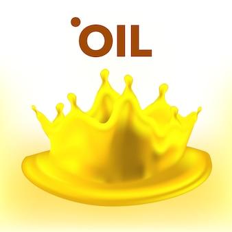 Spruzzata di olio. annuncio pubblicitario. clear stream. onda di carburante