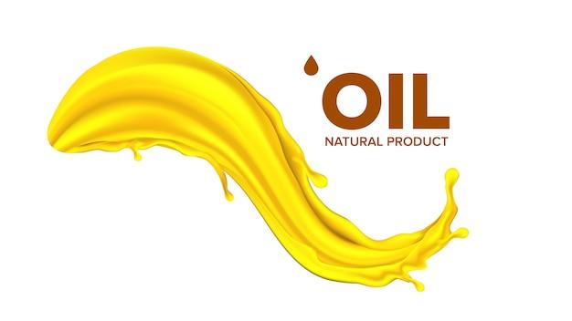 Spruzzata di olio. goccia liquida. gocciolina d'oro
