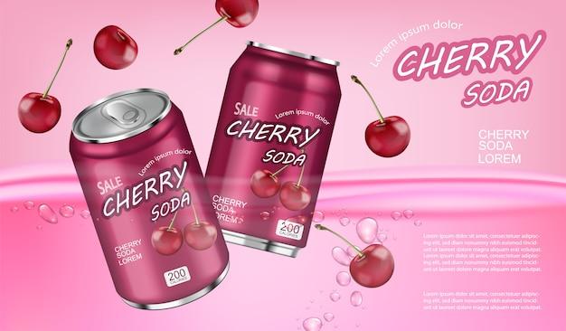 Spruzzata di soda alla ciliegia