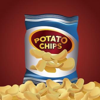 Spuntini di patatine fritte