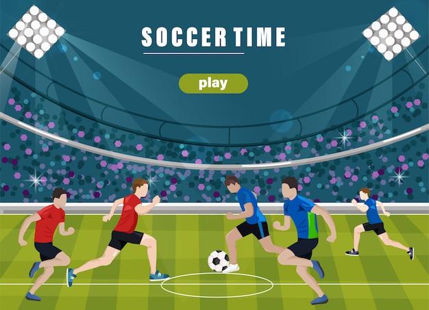 Squadra che gioca a calcio