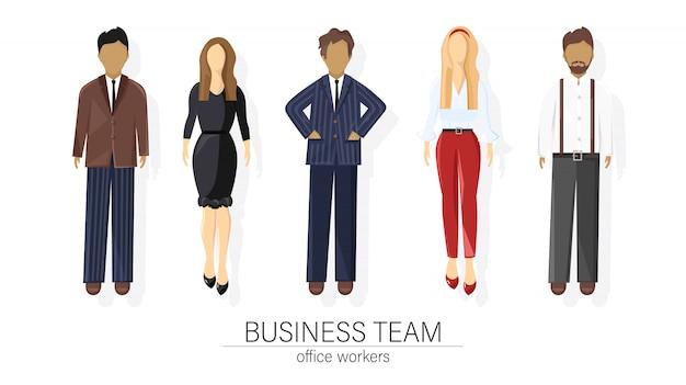 Squadra di affari impostare persone