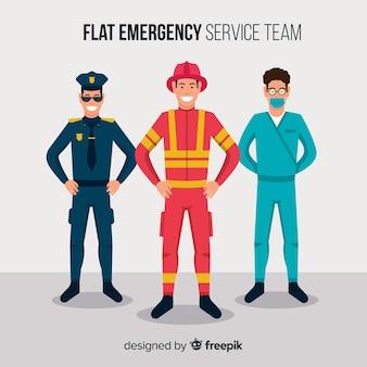 Squadra di emergenza piatta