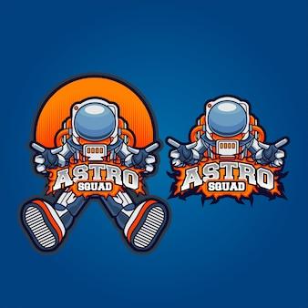 Squadra di gioco astronauta
