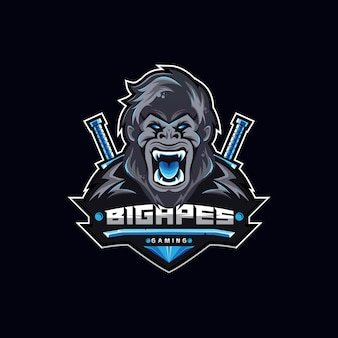 Squadra di logo blue monkey eport