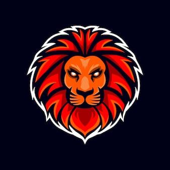 Squadra di squadra di gioco logo testa di leone esport
