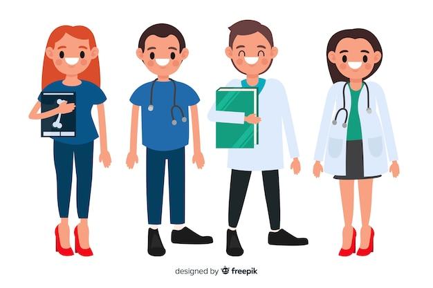 Squadra infermiera piatta