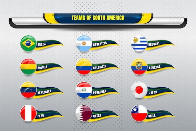 Squadre nazionali del sud america