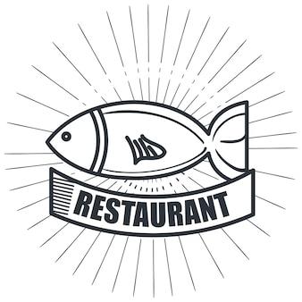 Squisitezze di pesce ristorante isolato icona design