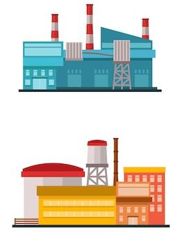 Stabilimento di fabbrica in stile piatto vettoriale