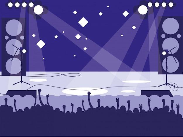 Stadio con concerto rock