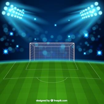 Stadio di calcio in stile realistico