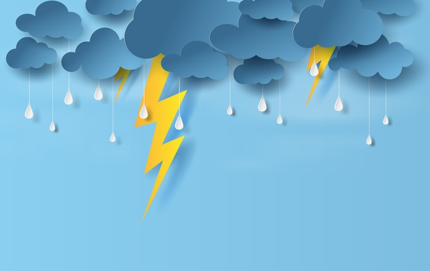 Stagione delle piogge in tempesta di fulmini