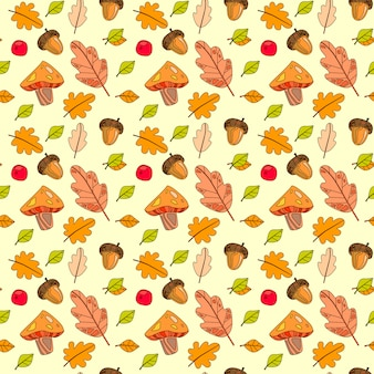 Stagione di caduta di autumn seamless pattern colorful leaves ornament