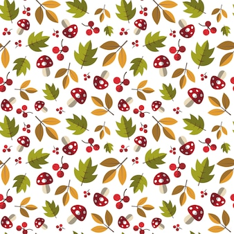 Stagione di caduta di autumn seamless pattern yellow leaves ornament