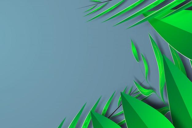 Stagione estiva della natura della giungla verde.