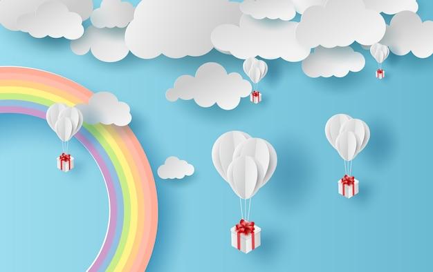 Stagione estiva paesaggio arcobaleno