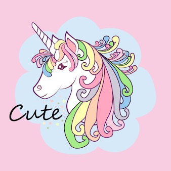 Stampa cartone animato unicorno