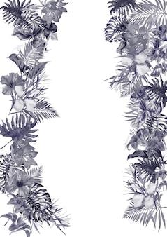 Stampa di fiori tropicali