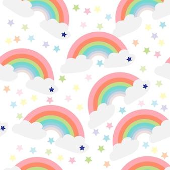 Stampa la stella arcobaleno