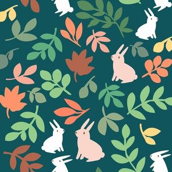 Stampa modello di coniglio