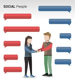 Stampa persone sociali