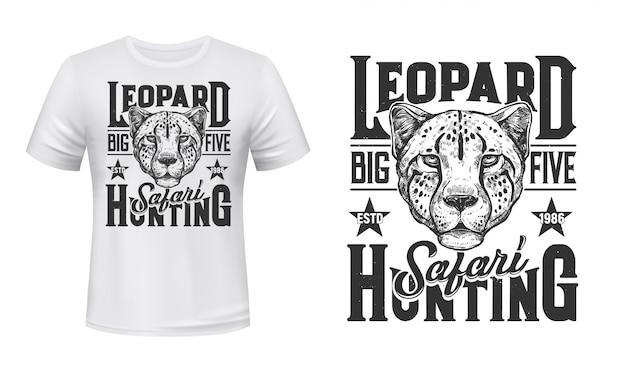 Stampa safari africano, pantera leopardata