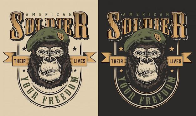Stampa t-shirt con il concetto di gorilla