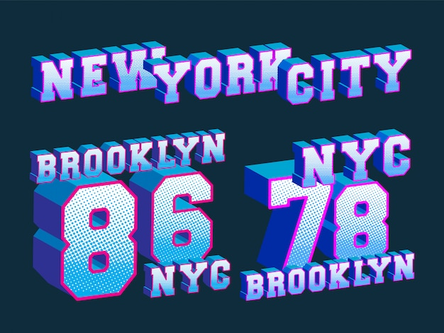 Stampa t-shirt new york city - brooklyn - new york