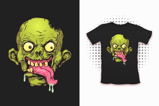 Stampa zombi per il design di t-shirt