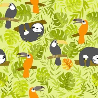 Stampare pappagallo bradipo