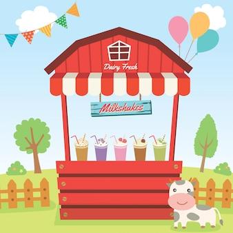 Stand del paese dei milkshake