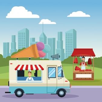 Stand gastronomico e negozi