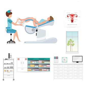 Stanza d'ospedale ginecologica