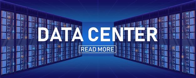 Stanza del cremagliera del server, priorità bassa del centro di grande banca di dati.