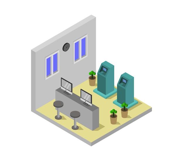 Stanza della banca isometrica