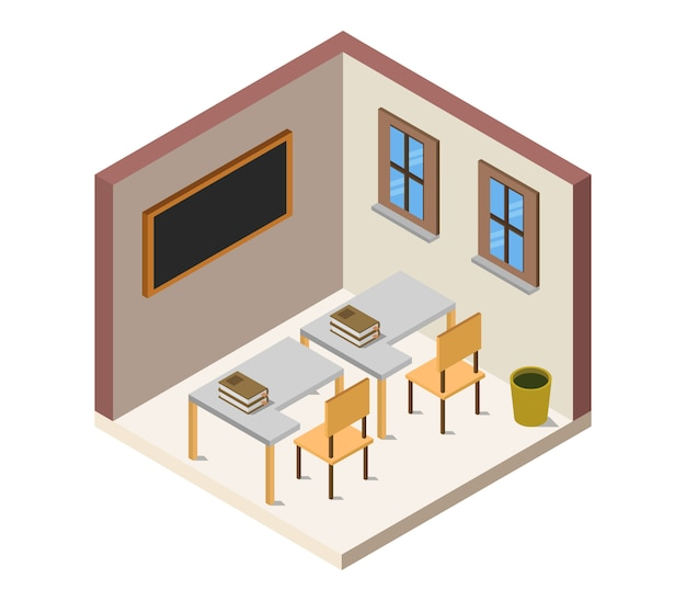 Stanza della scuola isometrica