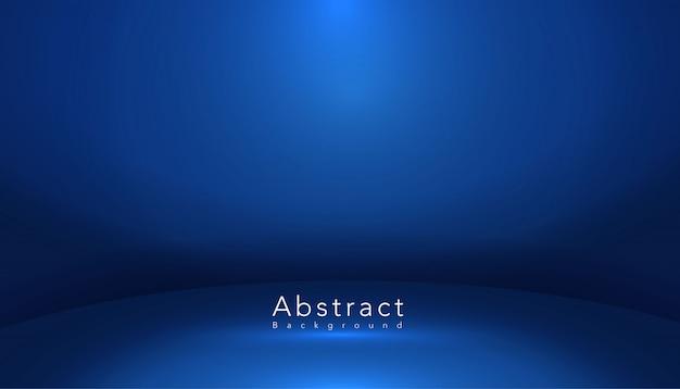 Stanza dello studio di forma astratta blu