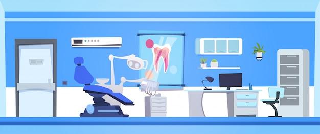 Stanza vuota dell'ospedale o della clinica del dentista vuoto interno dell'ufficio dentario