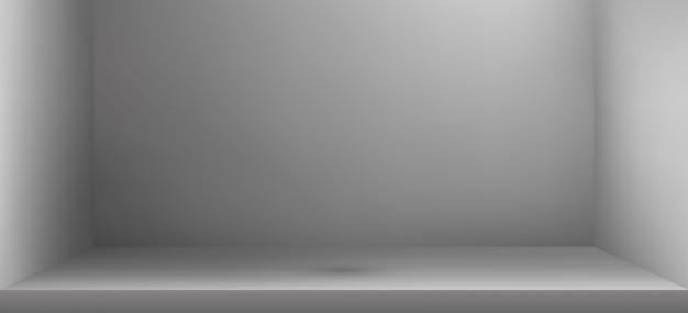 Stanza vuota dello studio di colore con ombra