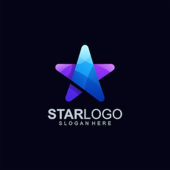 Star logo design illustrazione vettoriale