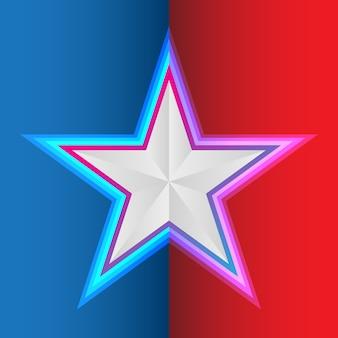 Star su sfondo rosso blu