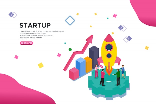 Startup concetto di illustrazione vettoriale