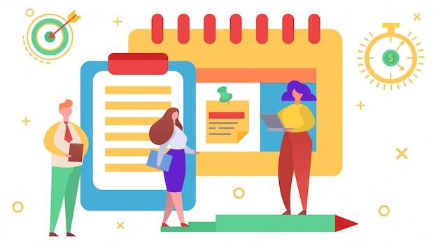 Startup team leader, illustrazione. lavoro di squadra di affari, concetto del piano di gestione della squadra. carattere di donna uomo fare strategia