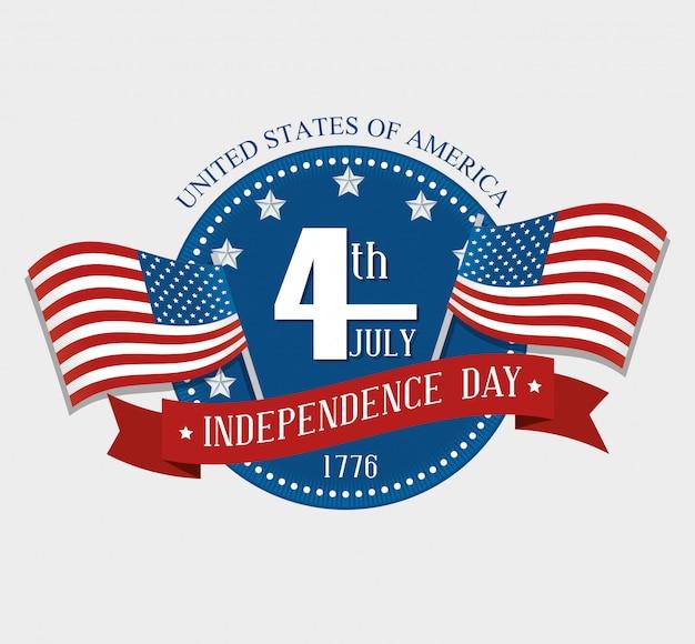 Stati uniti felice giorno dell'indipendenza, 4 luglio celebrazione