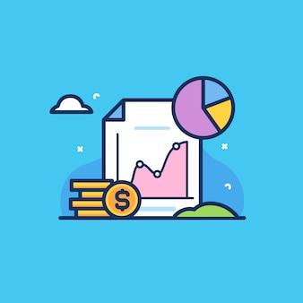 Statistica dei profitti e grafica