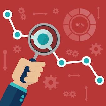 Statistica del sito web di informazioni e sviluppo di analisi dei dati web